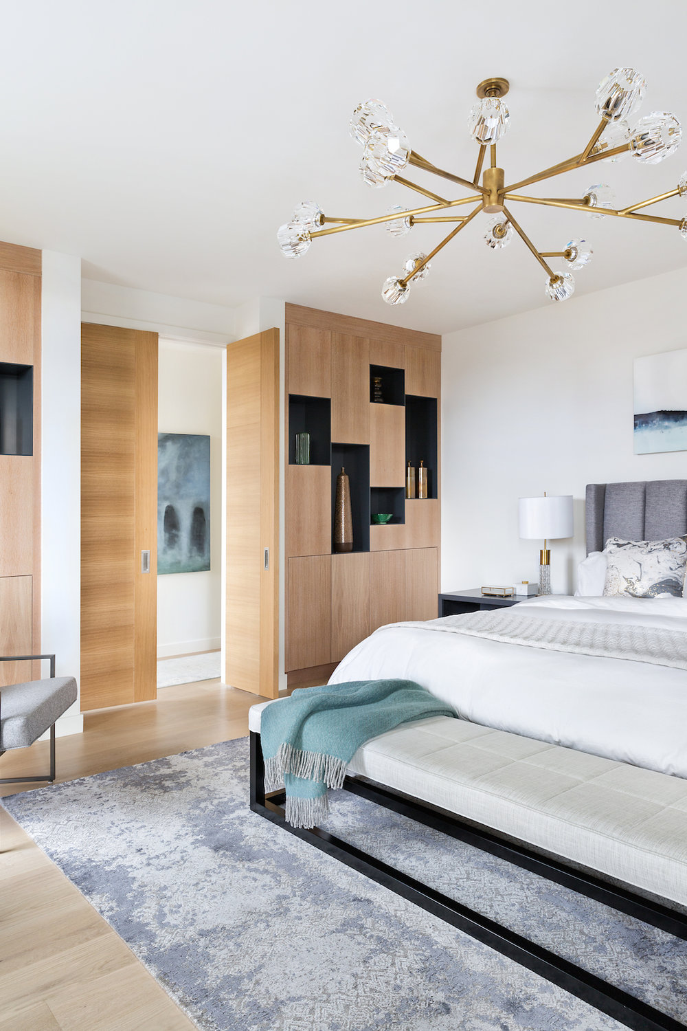 Elbow Park Modern, Master Bedroom, Calgary Interior Designer, Nyla Free Designs, DeJong Design Associates, Insignia Custom Builder, Phil Crozier Photography