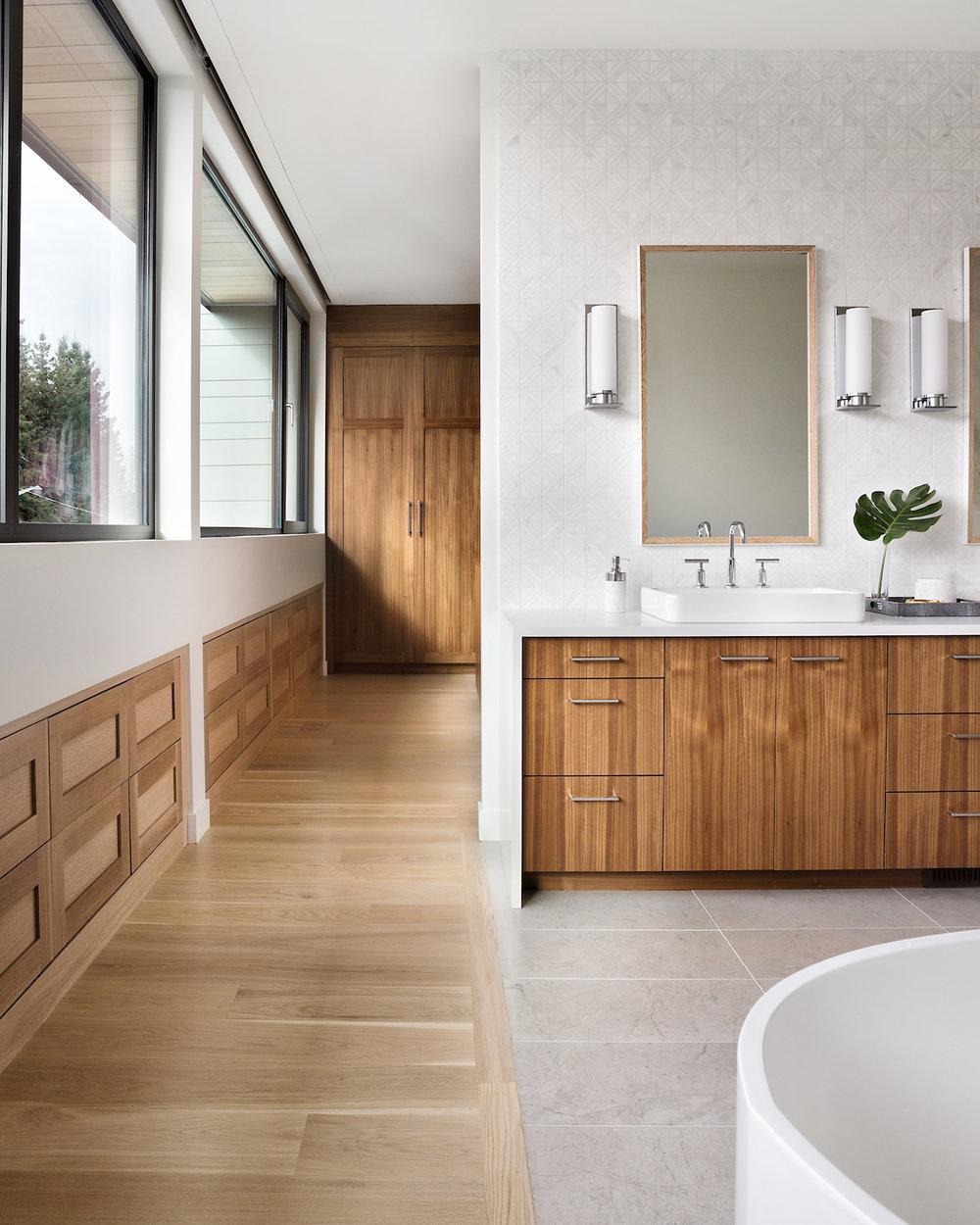 Modern Master Bathroom, Calgary Interior Designer, Nyla Free Designs, DeJong Design Associates, Insignia Custom Homes, Phil Crozier Photography