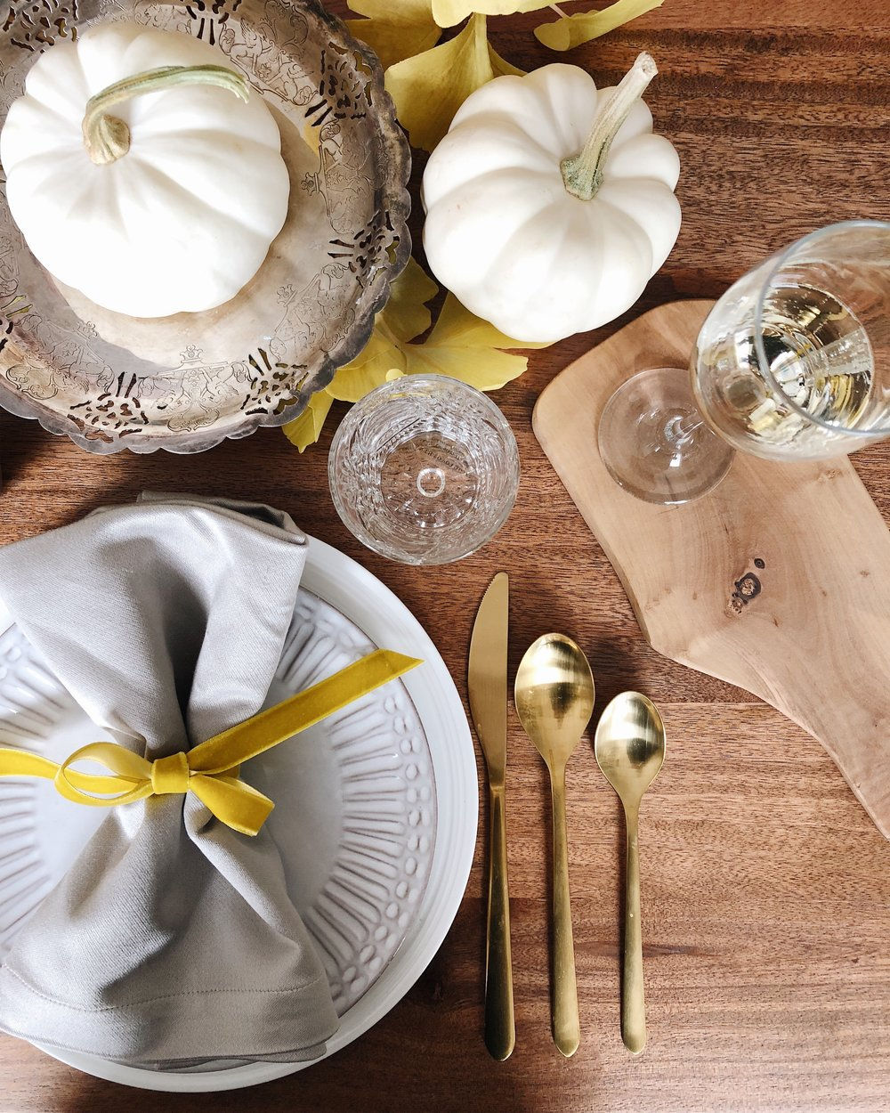 Thanksgiving Casual Table Setting Ideas, Four Basics Three Options, Holiday Decor, Calgary Interior Designer, Nyla Free Designs