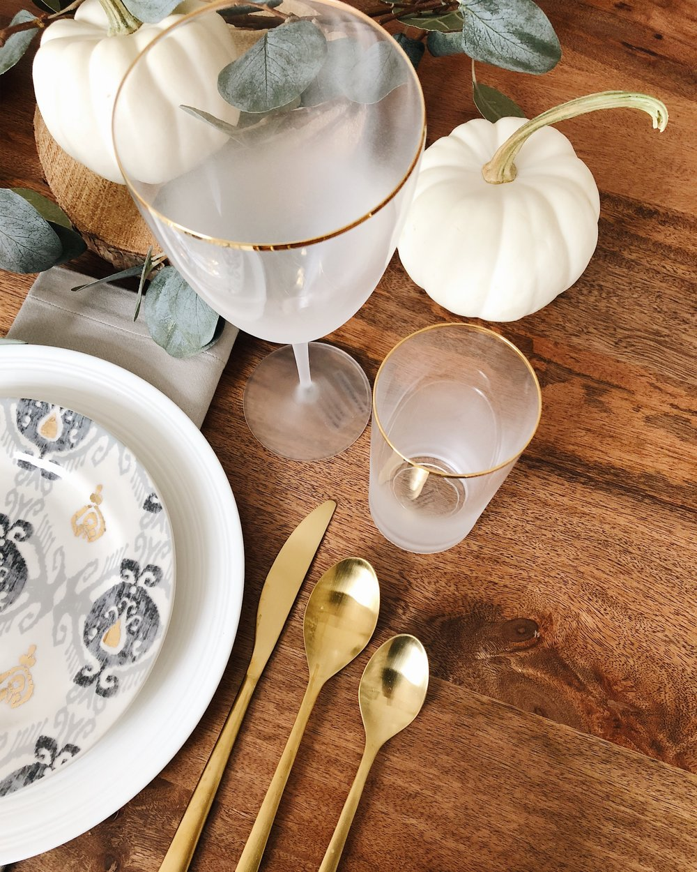 Thanksgiving Formal Table Setting Ideas, Four Basics Three Options, Holiday Decor, Calgary Interior Designer, Nyla Free Designs