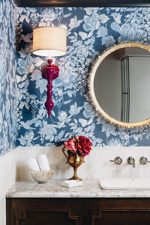 Divine Reveal 2018, Traditional Powder Room Design by Calgary Interior Design Studio, Nyla Free Designs, Klassen Photography