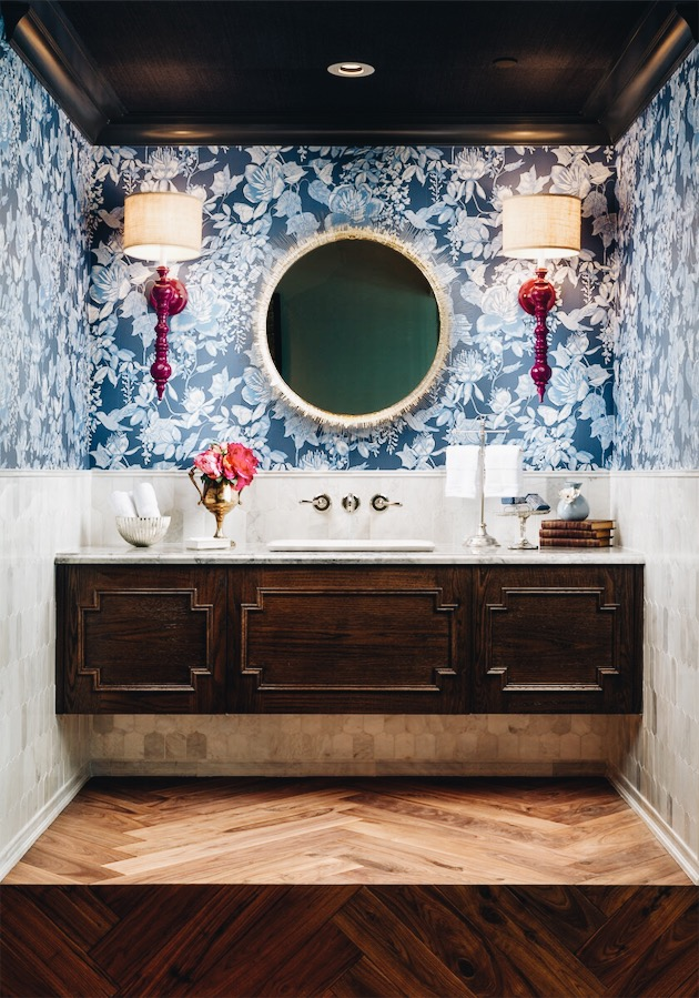 Divine Reveal 2018, Traditional Powder Room Design by Calgary Interior Design Studio, Nyla Free Designs