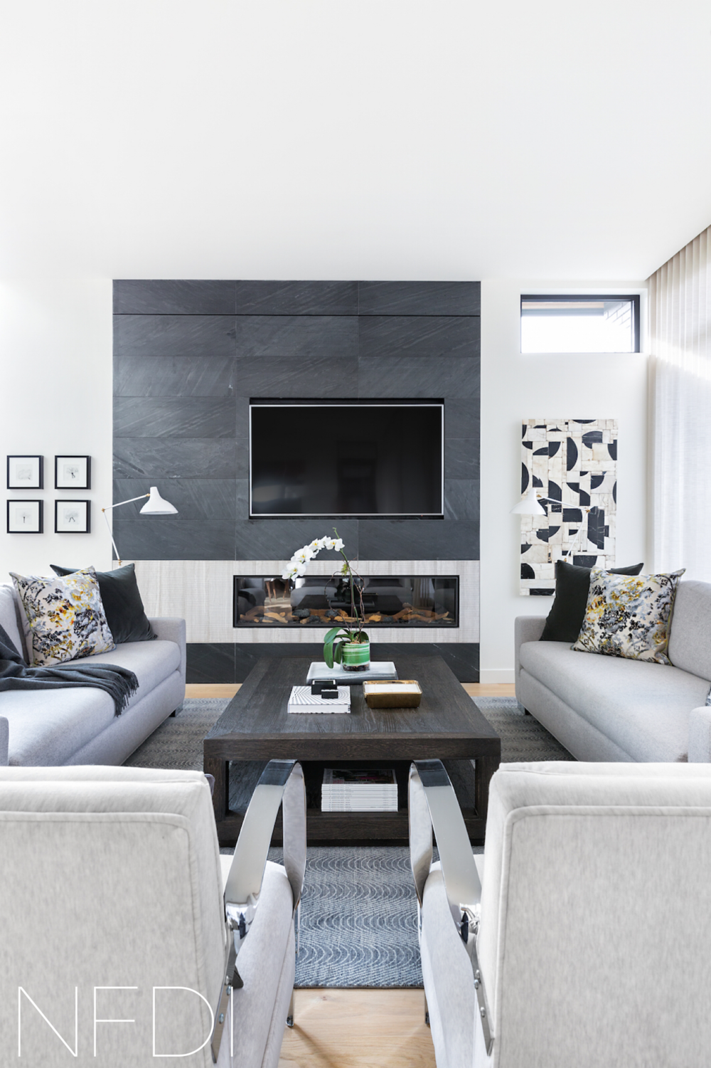 Designers Share Tips on Choosing a Fireplace with Avenue Magazine, Calgary Interior Designer, Nyla Free Designs Inc., Photography: Phil Crozier