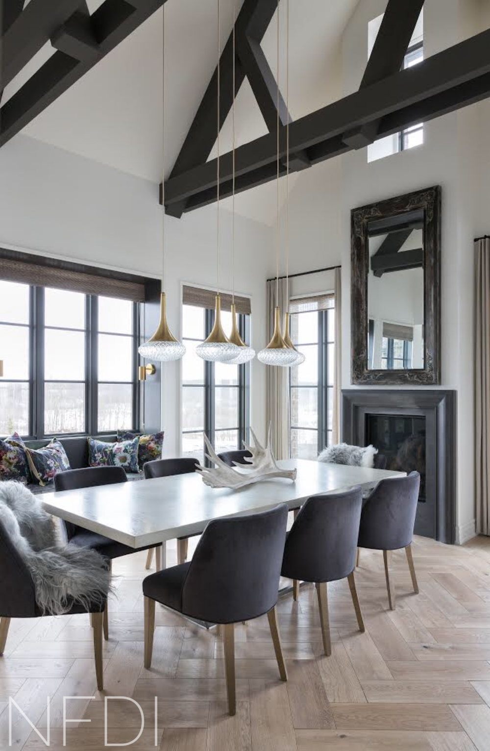 Country House Dining Room, Calgary Interior Designer, Nyla Free Designs, DeJong Design Associates, Photographed by Phil Crozier
