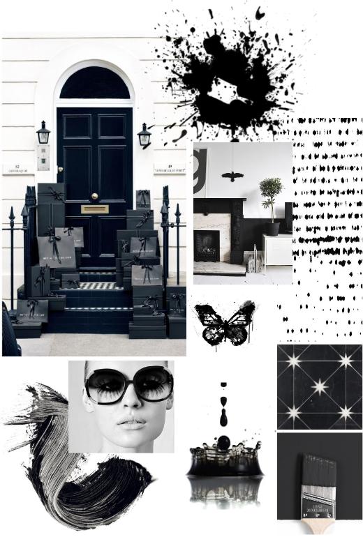 Black and White Inspiration, Benjamin Moore Jet Black, Calgary Interior Designer, Nyla Free Designs