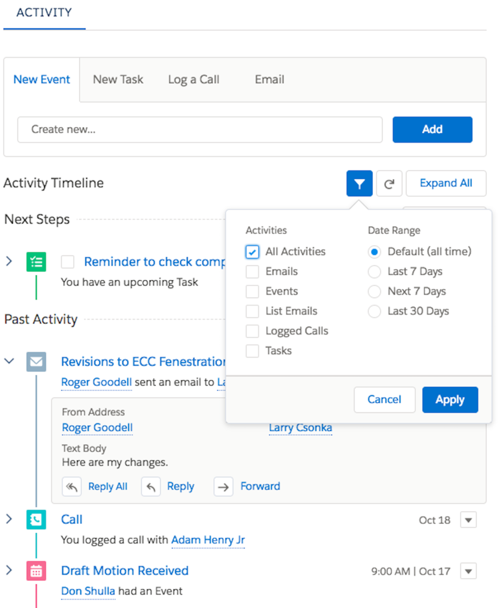 Copy of Activity View