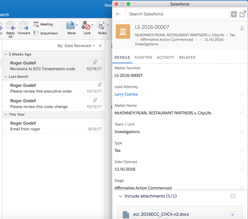 Copy of Outlook Integration