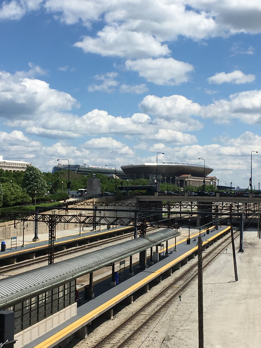 Approaching Soldier Field, Chicago
