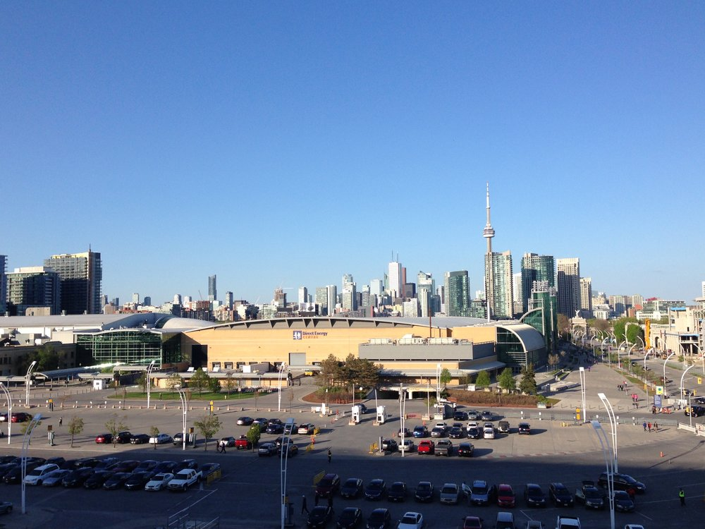 Excellent views from the Stadium, looking back at Toronto