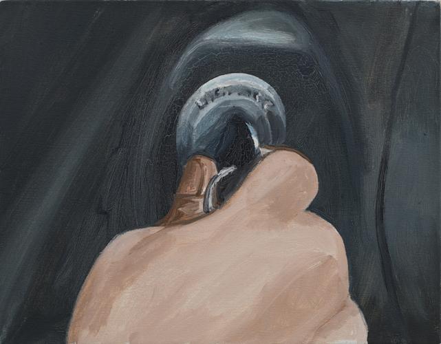 """start , 2014 Oil on canvas 14 x 18"""""""