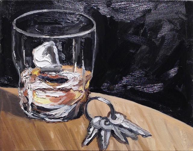 "scotch , 2014 Oil on canvas 14 x 18"""