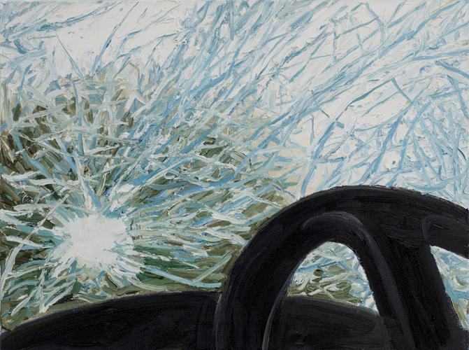 """shattered , 2013 Oil on canvas 18 x 24"""""""