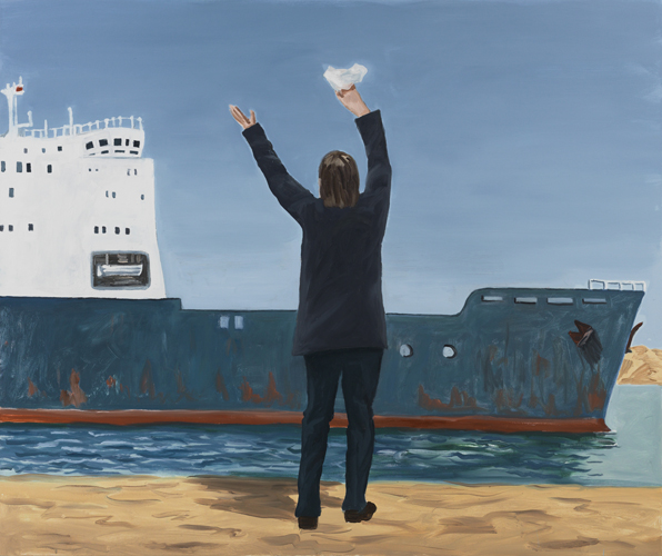 """sailor's return , 2013 Oil on canvas 60 x 72"""""""