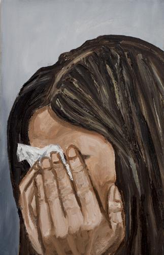 """tears , 2013 Oil on canvas 22 x 14"""""""