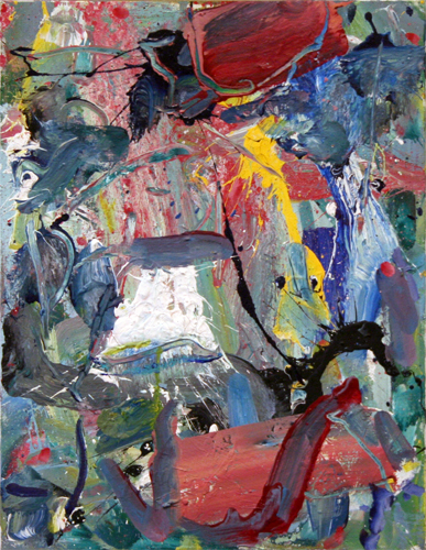 "Sid's Samurai Blood Sword , 2009 oil on canvas 18"" x 14"""
