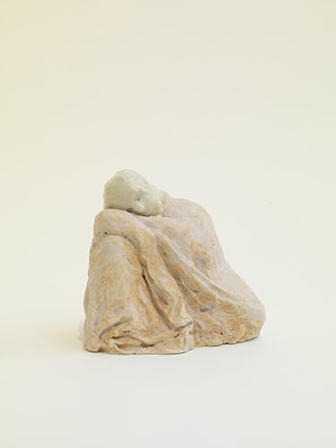 Sleeping Joachim , 2015 glazed porcelain 3 x 3 1/2 x 2 1/2""