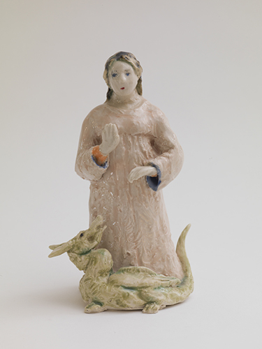Margaret of Antioch (western) , 2014 glazed porcelain 6 x 4 x 3""