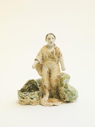 Margaret of Antioch (western) , 2016 glazed porcelain 6 x 5 1/2 x 4""