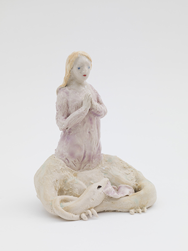 Margaret of Antioch (western) , 2016 glazed porcelain 5 1/4 x 4 x 4""
