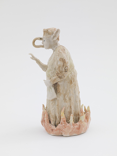 Envy (after Giotto) , 2015 glazed porcelain 5 1/2 x 3 x 3""