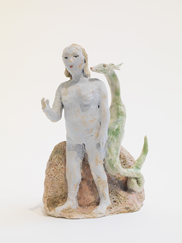 Shoulder Demon (after Giotto) , 2015 glazed porcelain 5 1/4 x 4 x 3""