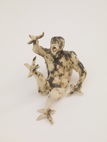 Single Demon,  2015 glazed porcelain 2 1/2 x 3 1/2 x 2 1/2""
