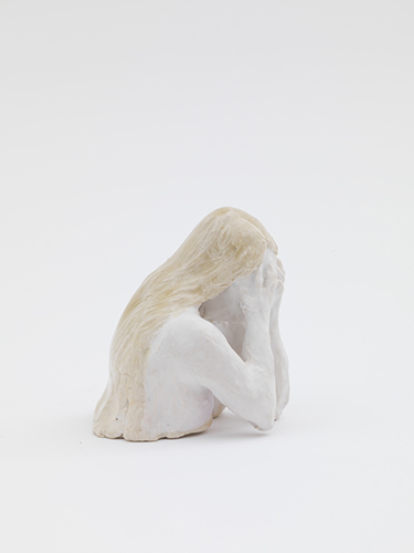 Shame (after Masaccio) , 2014 glazed porcelain 2 1/2 x 2 1/2 x 2""