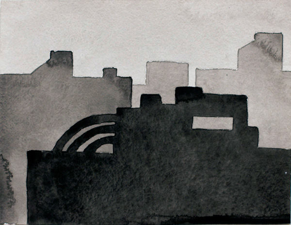 NYC #581 , 2011 acrylic on paper 9 x 11 inches
