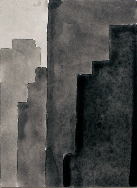 NYC #485 , 2011 acrylic on paper 10 ½ x 8 inches