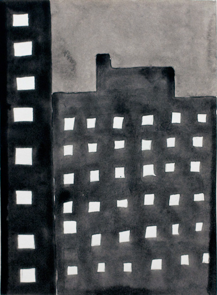 NYC #500 , 2011 acrylic on paper 10 ½ x 8 inches