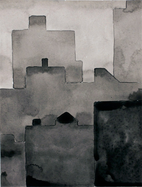 NYC #583 , 2012 acrylic on paper 11 x 9 inches