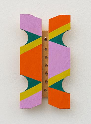 "xul , 2016 acrylic on wood 6 x 4 x 1"""