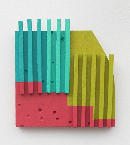 """abascolo , 2014 acrylic on wood 6 ½ x 6 x ¾"""""""