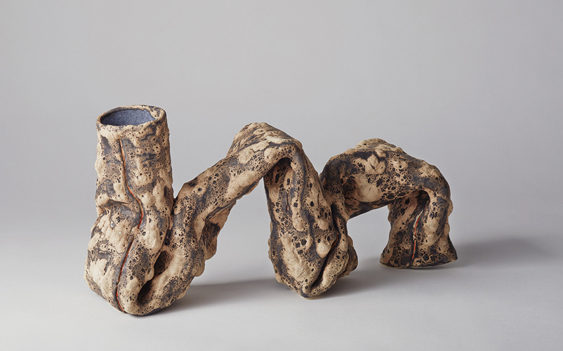 on the run , 2014 glazed ceramic 7 x 13 x 4 inches