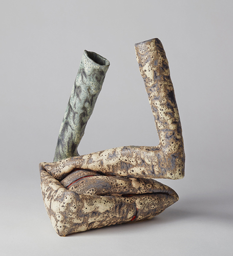 lava dyad , 2015 glazed ceramic 10 x 7 x 7 1/2 inches