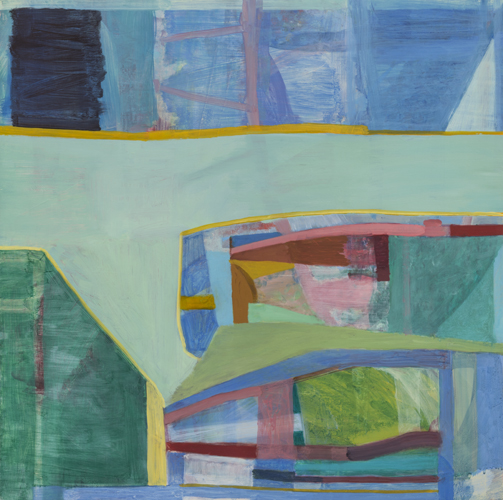 green t , 2013 oil on canvas on panel 24 x 24""