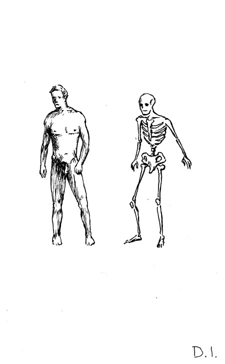 "envy of flesh, 2009 ink on paper 5 5/8 x 3 3/4 """