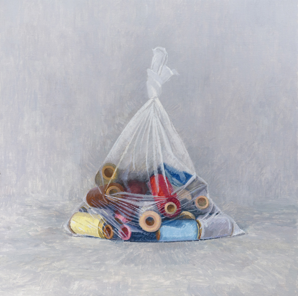 spools II , 2013 oil on linen 20 x 20 inches