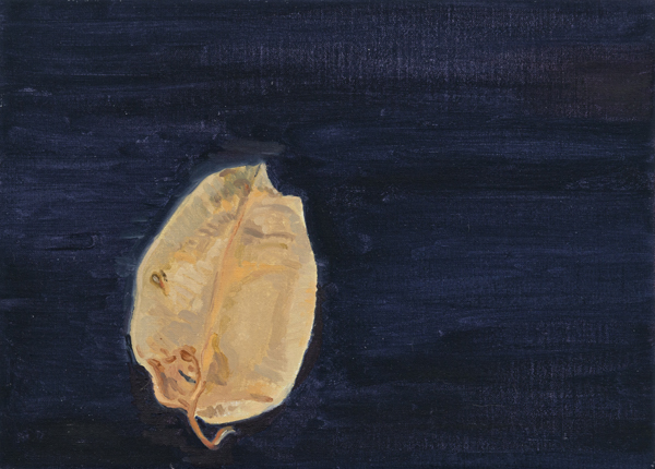leaf 14 , 2013 oil on linen 8 x 11 inches