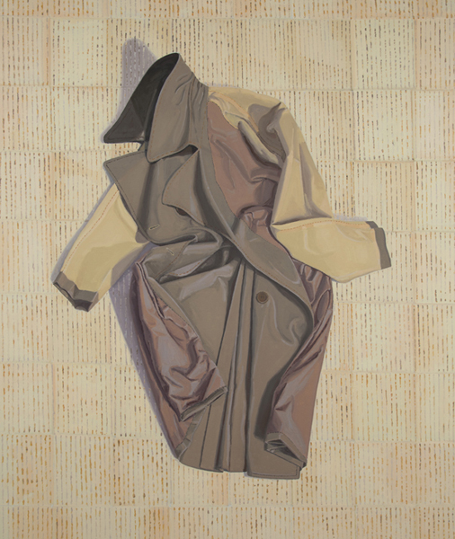 inside-out overcoat , 2013 oil on linen 56 x 48 inches