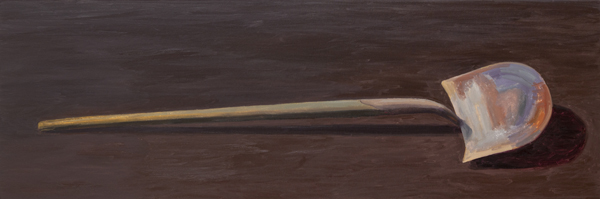shovel II , 2013 oil on linen 20 x 60 inches