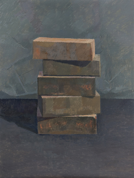 stack II , 2013 oil on linen 24 x 18 inches