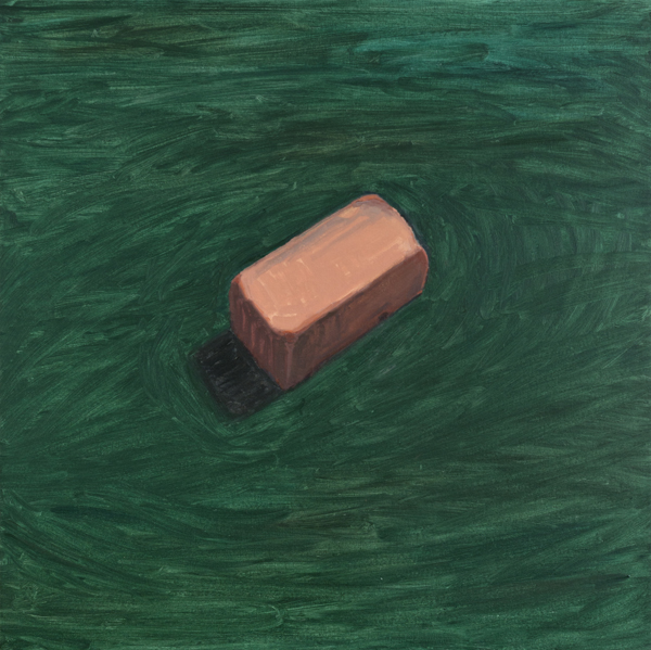 green brick , 2013 oil on linen 32 x 32 inches
