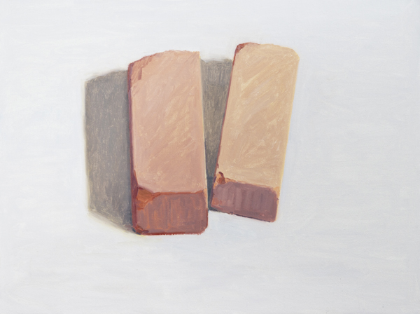 two bricks , 2013 oil on linen 18 x 24 inches