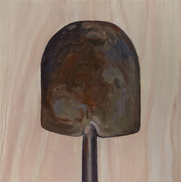 shovel head , 2013 oil on linen 16 x 16 inches