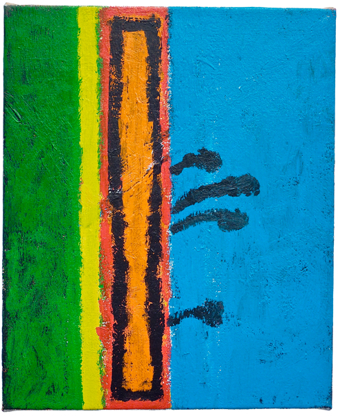 #01987 , 2011 acrylic on canvas 17 x 14 inches