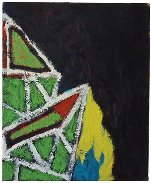 #01989 , 2011 acrylic on canvas 17 x 14 inches