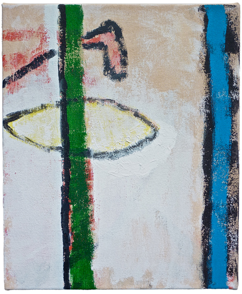 #01996 , 2011 acrylic on canvas 17 x 14 inches