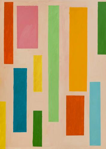 "hop step ,2015 oil on canvas 70 x 61"""