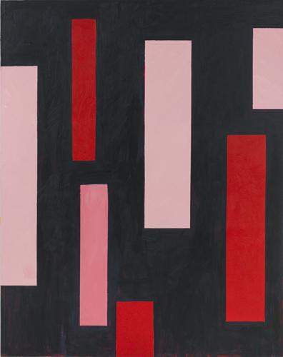 "impingement ,2015 oil on canvas 77 x 61"""